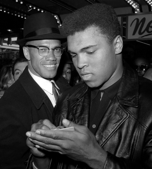 "FILE - In this March 1, 1964, file photo, world heavyweight boxing champion, Muhammad Ali, right, appears with Black Muslim Leader, Malcolm X, in New York. A Smithsonian Channel series, ""The Lost Tapes: Malcolm X,"" examining the life of civil right leader Malcolm X, follows the advocate's changing philosophy using his own words as a Nation of Islam surrogate to a figure seeking to build coalitions during the tumultuous 1960s civil rights era. (AP Photo/File)"