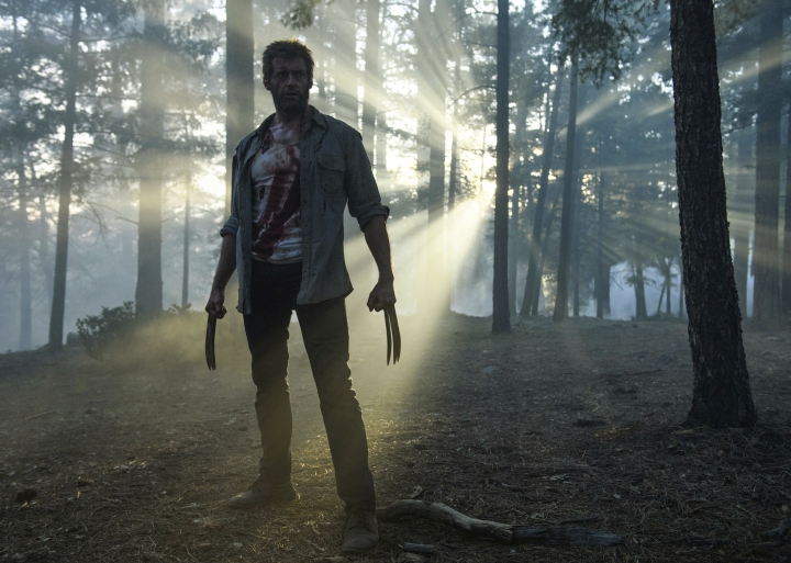 """This image released by Twentieth Century Fox shows Hugh Jackman from the film, """"Logan."""" Director James Mangold, along with Michael Green and Scott Frank, is nominated for an Oscar for adapted screenplay for the film. The 90th Academy Awards will be held on Sunday, March 4. (Ben Rothstein/Twentieth Century Fox via AP)"""
