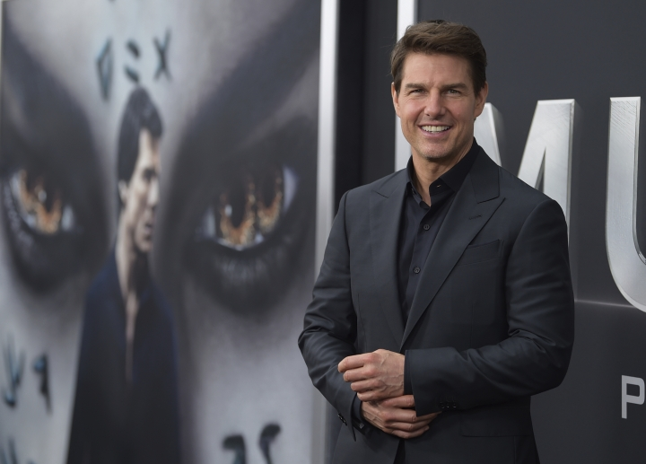 """FILE - In this Tuesday, June 6, 2017, file photo, Tom Cruise attends a special screening of """"The Mummy"""" at AMC Loews Lincoln Square in New York. Cruise's attempted reboot of the """"Mummy"""" franchise landed him the 2017 Razzie Award for worst actor. (Photo by Evan Agostini/Invision/AP, File)"""