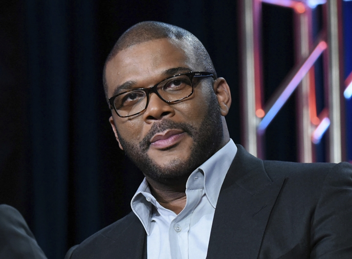 "FILE - In this Jan. 15, 2016, file photo, Tyler Perry participates in a panel at the Fox Winter TCA in Pasadena, Calif. Perry took the 2017 Razzie Award for worst actress for ""Boo 2! A Madea Halloween,"" the 10th movie where the director donned a dress and played his signature character. (Photo by Richard Shotwell/Invision/AP, File)"