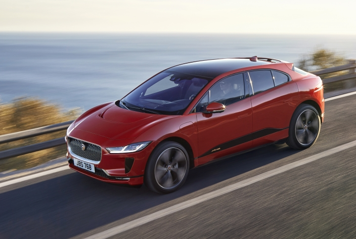 The undated image provided via the Jaguar Newsroom shows the Jaguar I-PACE electric vehicle which premiered on March 1, 2018. Global automakers are rolling out more production-ready electric vehicles at the Geneva International Motor Show as they try to challenge Tesla and get ahead of looming disruptive shifts in transportation toward lower-emission and autonomous vehicles. The carmakers will show off their wares during press days Monday evening through Wednesday; the show opens to the public on Thursday and runs through March 18. (Jaguar via AP)