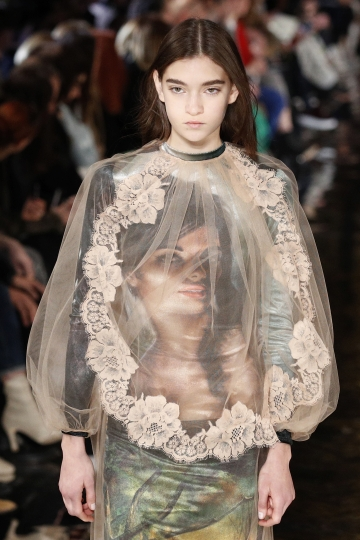A model wears a creation for Stella McCartney's ready-to-wear fall-winter 2018/2019 fashion collection presented in Paris, Monday , March 5, 2018. (AP Photo/Francois Mori)