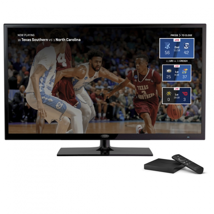 This undated product image provided by Turner Broadcasting System, Inc., shows the March Madness Live service on Amazon's Fire TV, with a feature for easily switching between games. The men's college basketball tournament begins Tuesday, March 13, 2018. All 67 games will be available online. To view on a streaming device such as Apple TV, Roku or Fire TV, you need a $6-a-month subscription to CBS All Access, or a subscription to one of those cable-like online packages. (Turner Broadcasting System, Inc. via AP)