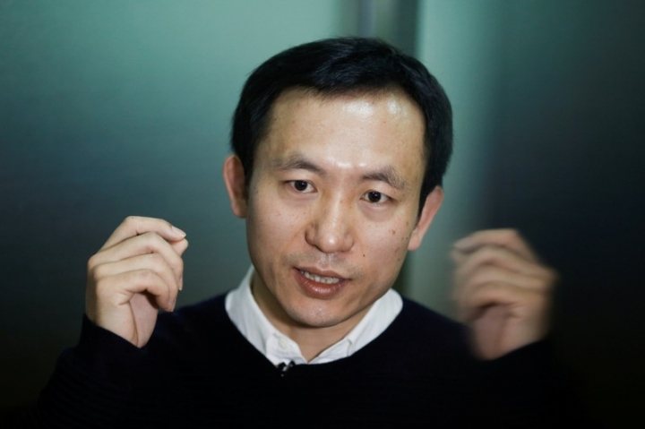 LLVision CEO Wu Fei speaks during an interview at the company's office in Beijing, China February 28, 2018. Picture taken February 28, 2018. REUTERS/Thomas Peter