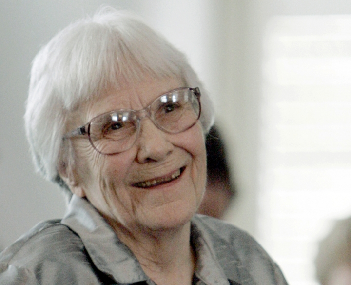 "FILE - In this Aug. 20, 2007 file photo, author Harper Lee smiles during a ceremony honoring the four new members of the Alabama Academy of Honor at the Capitol in Montgomery, Ala. The estate of ""To Kill a Mockingbird"" author Lee has filed suit over an upcoming Broadway adaptation of the novel set to open in Dec. 2018. The federal lawsuit filed this week in Alabama argues that screenwriter Aaron Sorkin's script wrongly alters Atticus Finch and other characters from the book. (AP Photo/Rob Carr, File)"