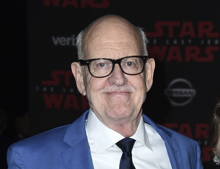 "FILE - In this Dec. 9, 2017 file photo, Frank Oz arrives at the Los Angeles premiere of ""Star Wars: The Last Jedi"" at the Shrine Auditorium in Los Angeles. Oz, who created Muppet character Miss Piggy, is one of many Muppet artists shedding light on their creative processes and their characters' secret backstories in a new documentary, ""Muppet Guys Talking,"" available online Friday. (Photo by Jordan Strauss/Invision/AP, File)"