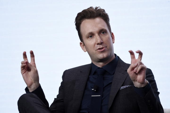 "FILE - In this July 25, 2017 file photo, Jordan Klepper, host of the new Comedy Central talk show ""The Opposition with Jordan Klepper,"" answers a question during the 2017 Television Critics Association Summer Press Tour at the Beverly Hilton in Beverly Hills, Calif. Klepper is planning a slumber party for young activists pushing for action on gun control. Klepper plans to host Thursday's episode on March 22, 2018, of his show, ""The Opposition,"" from a bedroom of a private home in Bethesda, Maryland. That's where young people are gathering in preparation for Saturday's march on Washington to oppose gun violence. (Photo by Chris Pizzello/Invision/AP, File)"