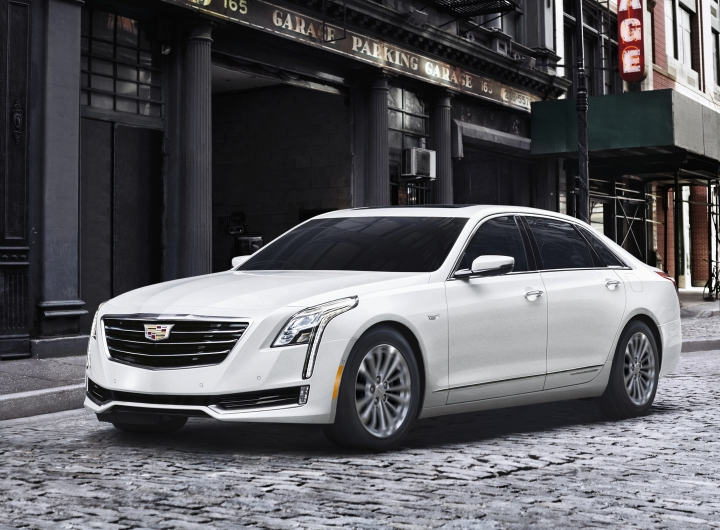 This undated photo provided by General Motors shows the Cadillac CT6 Plug-In. Cadillac's CT6 Plug-In sedan offers a pleasing mix of luxury, power and electric-only driving range. (Courtesy of General Motors via AP)
