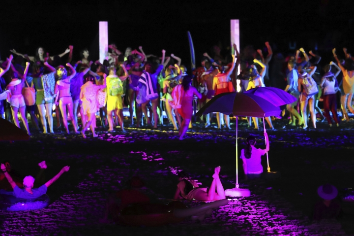 Dancers perform at Carrara Stadium during the opening ceremony of the 2018 Commonwealth Games on the Gold Coast, Australia, Wednesday, April 4, 2018. (AP Photo/Manish Swarup)