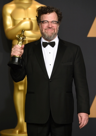 """FILeE- In this Feb. 26, 2017 file photo, Kenneth Lonergan poses in the press room with the award for best original screenplay for """"Manchester by the Sea"""" at the Oscars in Los Angeles. Lonergan wrote the four-part miniseries, """"Howards End,"""" based on E.M. Forster's classic novel, premiering Sunday on Starz. (Photo by Jordan Strauss/Invision/AP, File)"""