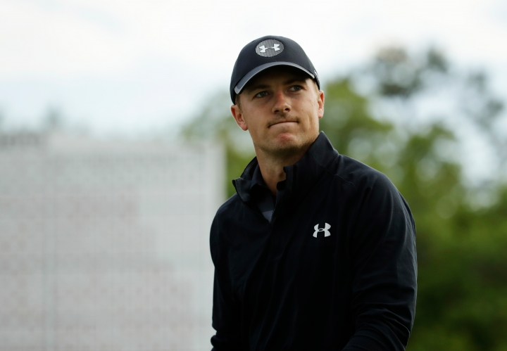 Jordan Spieth walks off the 18th hole during the fourth round at the Masters golf tournament Sunday, April 8, 2018, in Augusta, Ga. (AP Photo/Chris Carlson)