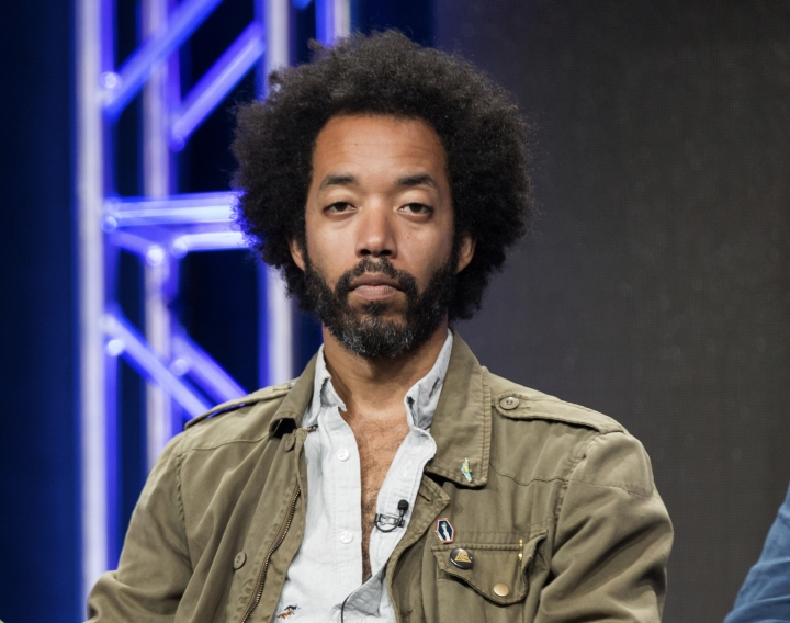 """FILE - In this July 31, 2016 file photo, Wyatt Cenac participates in the """"People on Earth"""" panel during the Turner Networks TV Television Critics Association summer press tour in Beverly Hills, Calif. Cenac's """"Problem Areas"""" is a new entry into late-night television, and the former """"Daily Show"""" contributor takes inspiration from John Oliver in his desire to inform along with being entertaining. (Photo by Willy Sanjuan/Invision/AP, File)"""