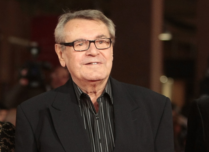 "FILE - In this Oct. 15, 2009, file photo, film festival jury member Milos Forman poses on the red carpet at the IV edition of the Rome Film Festival in Rome. Forman, whose American movies ""One Flew Over the Cuckoo's Nest"" and ""Amadeus"" won a deluge of Academy Awards, including best director Oscars, died Saturday, April 14, 2018. (AP Photo/Gregorio Borgia)"