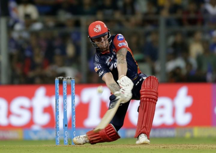 Delhi Daredevils player Jason Roy bats against Mumbai Indians during VIVO IPL cricket T20 match in Mumbai, India, Saturday, April 14, 2018. (AP Photo/Rajanish Kakade)
