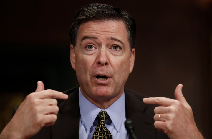 """FILE - In this May 3, 2017, file photo, then-FBI Director James Comey testifies on Capitol Hill in Washington. Comey is blasting President Donald Trump as unethical and """"untethered to truth"""" and his leadership of the country as """"ego driven and about personal loyalty."""" Comey's comments come in a new book in which he casts Trump as a mafia boss-like figure who sought to blur the line between law enforcement and politics and tried to pressure him regarding the investigation into Russian election interference. (AP Photo/Carolyn Kaster)"""