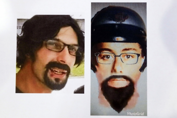 This image released by Royal Malaysia Police shows a suspect of killing of a Palestinian man during a press conference at police headquarter in Kuala Lumpur, Malaysia, Wednesday, April 25, 2018. Malaysian police have released the photo of one of the two assailants who gunned down a Palestinian engineer this past weekend, and say the duo could still be in the country. (Royal Malaysia Police via AP)