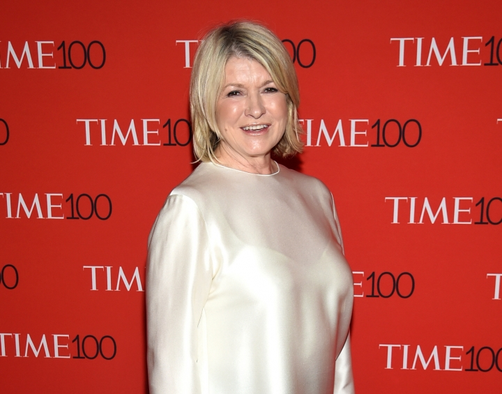 FILe - In this April 24, 2018 file photo, Martha Stewart attends the Time 100 Gala celebrating the 100 most influential people in the world in New York. Auction house Kaminski Auctions is selling about 5,000 of Stewart's former studio props. Part of the proceeds from the sale May 5 and 6 will go to the Martha Stewart Center for Living at Mount Sinai Hospital in New York City. (Photo by Evan Agostini/Invision/AP, File)