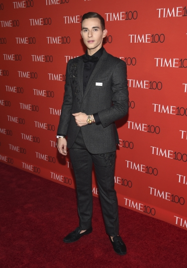 Adam Rippon attends the Time 100 Gala celebrating the 100 most influential people in the world at Frederick P. Rose Hall, Jazz at Lincoln Center on Tuesday, April 24, 2018, in New York. (Photo by Evan Agostini/Invision/AP)