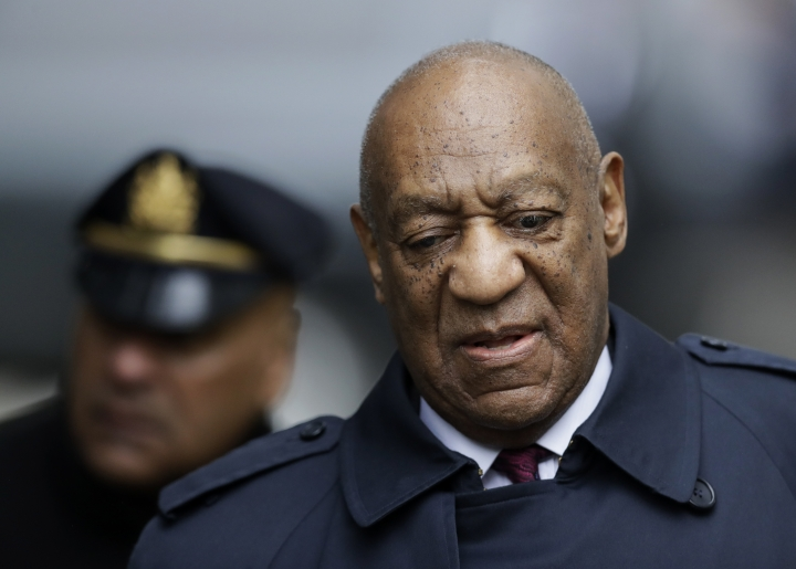Bill Cosby arrives for his sexual assault trial, Wednesday, April 25, 2018, at the Montgomery County Courthouse in Norristown, Pa. (AP Photo/Matt Slocum)