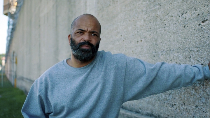 "This image released by the Tribeca Film Festival shows Jeffrey Wright in a scene from ""O.G."" The film, by Madeleine Sackler, was shot at Indiana's Pendleton Correction Facility, with inmates playing major and minor roles. (Tribeca Film Festival via AP)"