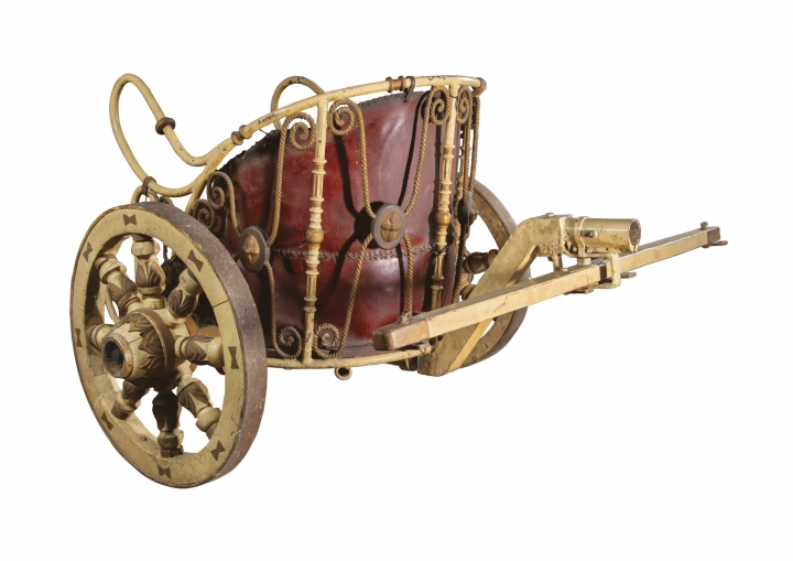 "This image released by Profiles in History shows a practice chariot used by Charlton Heston in the 1959 film, ""Ben-Hur,"" which is among the items from Hollywood films up for auction in June. (Profiles in History via AP)"