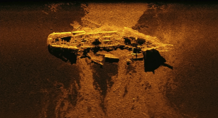 This undated image provided by the Australian Transport Safety Bureau shows debris of a ship, maritime historians say on Thursday, May 3, 2018, that may be on a short list of the possible identities found during the initial 710,000-square kilometer (274,000-square mile) three-year search for Malaysia Airlines Flight 370 that was lost in 2014 with 238 people aboard. The wreckage is possibly the brig W. Gordon or the barque Magdala, according to incomplete records of ships lost in that period. (ATSB via AP)