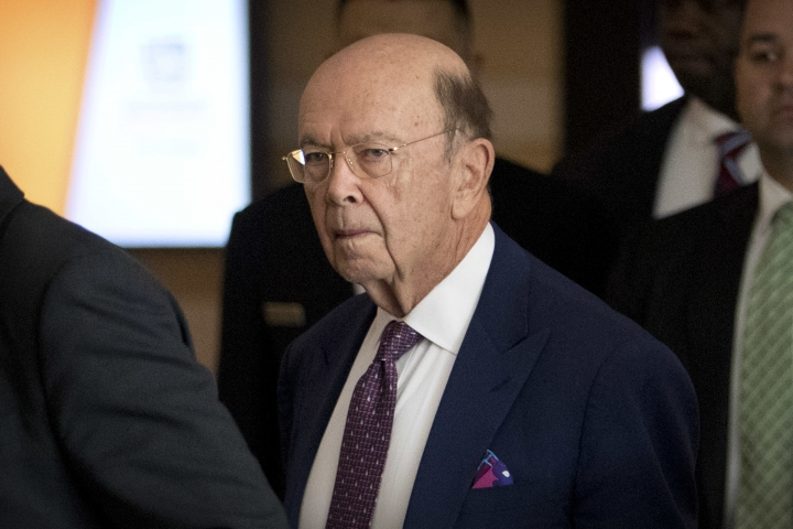 U.S. Commerce Secretary Wilbur Ross leaves his hotel in Beijing, Friday, May 4, 2018. A high-powered U.S. delegation met for a second day of talks with Chinese officials on defusing tensions that are propelling the world's largest two economies toward a trade war. (AP Photo/Mark Schiefelbein)