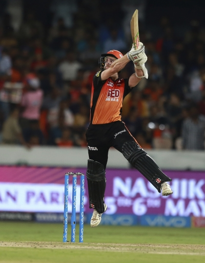 Sunrisers Hyderabad player Kane Williamson bats during VIVO IPL cricket T20 match against Delhi Daredevils in Hyderabad, India, Saturday, May 5, 2018. (AP Photo/Mahesh Kumar A.)