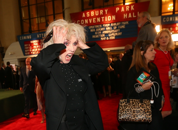 Singer-songwriter Debbie Harry of the band Blondie walks the red carpet in preparation for the induction ceremony at the New Jersey Hall of Fame, Sunday, May 6, 2018, in Asbury Park, N.J. (Bob Karp/The Daily Record via AP)