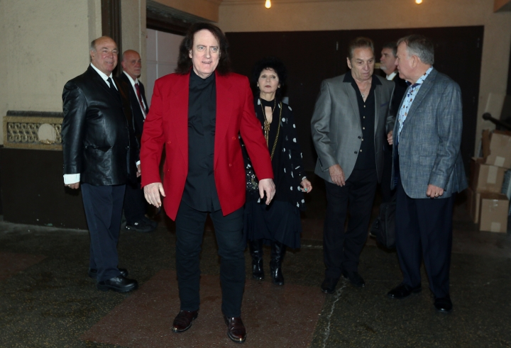 Tommy James comes into the Convention Hall for the 10th Anniversary Induction Ceremony of the New Jersey Hall of Fame at the Paramount Theater in Convention Hall in Asbury Park, N.J., Sunday, May 6, 2018. (Bob Karp/The Daily Record via AP)