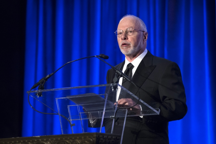 FILE - In this May 12, 2014, file photo, Paul Singer, founder and CEO of hedge fund Elliott Management Corporation, speaks at the Manhattan Institute for Policy Research Alexander Hamilton Award Dinner in New York. Prominent athenahealth investor Elliott Management Corp. is offering about $6.5 billion to take the medical billing software maker private after saying it has grown frustrated with the company's performance. Shares of athenahealth soared early Monday, May 7, 2018, after the shareholder outlined its proposal. (AP Photo/John Minchillo, File)