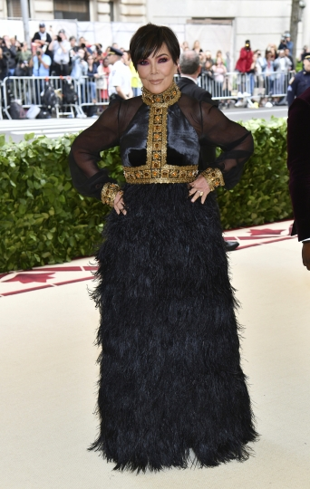 Kris Jenner attends The Metropolitan Museum of Art's Costume Institute benefit gala celebrating the opening of the Heavenly Bodies: Fashion and the Catholic Imagination exhibition on Monday, May 7, 2018, in New York. (Photo by Charles Sykes/Invision/AP)