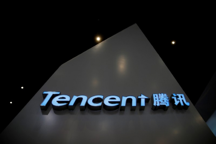 FILE PHOTO: A sign of Tencent is seen during the third annual World Internet Conference in Wuzhen town of Jiaxing, Zhejiang province, China November 16, 2016. REUTERS/Aly Song/File Photo