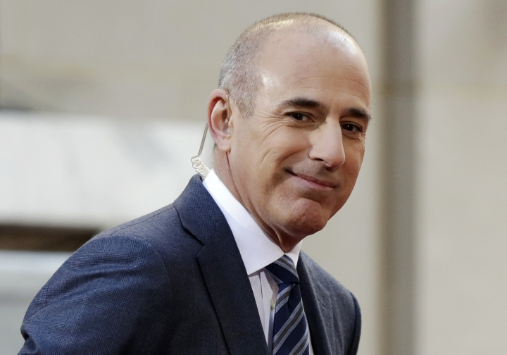 "FILE - In this April 21, 2016, file photo, Matt Lauer, co-host of the NBC ""Today"" television program, appears on set in Rockefeller Plaza, in New York. NBC has concluded in an internal investigation ordered after Lauer's firing that it does not believe there is a culture of sexual harassment in its news division. The network says that more needs to be done to ensure employees know how to report complaints about misconduct and not fear retaliation. To that end, NBC News Chairman Andy Lack said Wednesday, May 9, 2018, that he's creating a way for employees to make such complaints to a figure outside the company. (AP Photo/Richard Drew, File)"
