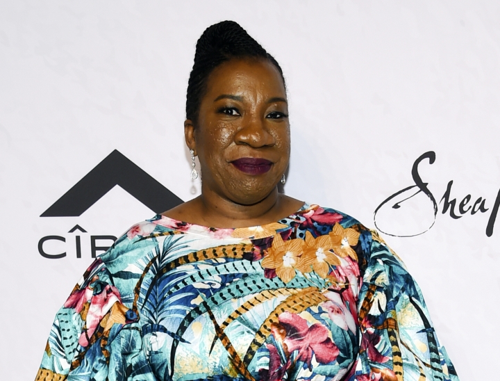 FILE - In this April 13, 2018 file photo, activist Tarana Burke, founder of the MeToo movement, attends Variety's Power of Women: New York event in New York. The New York Women's Foundation says it has raised an initial $1 million for a fund to support Burke and the movement she founded 12 years ago, with a goal of raising at least $2 million a year. (Photo by Evan Agostini/Invision/AP, File)