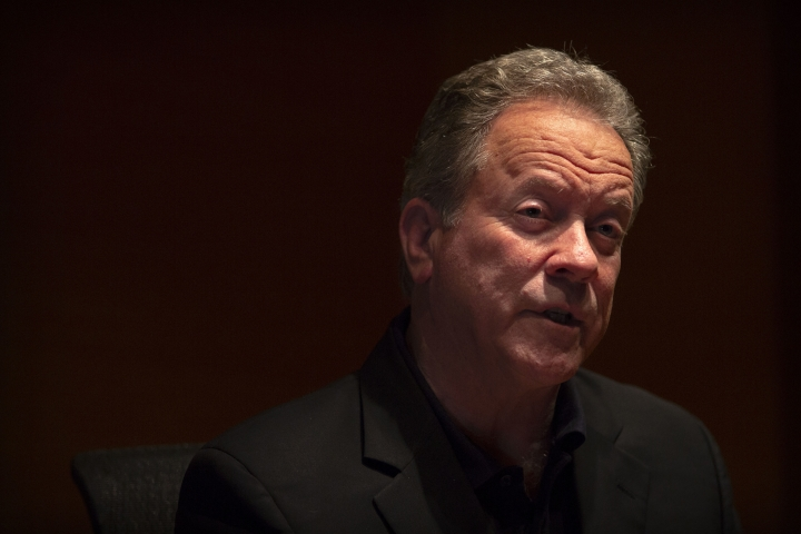 World Food Program (WFP) Executive Director David Beasley speaks during an interview in Beijing, Friday, May 11, 2018. The head of the United Nations' World Food Program says a peace agreement with North Korea will go far toward easing the impoverished nation's chronic food security woes. (AP Photo/Mark Schiefelbein)