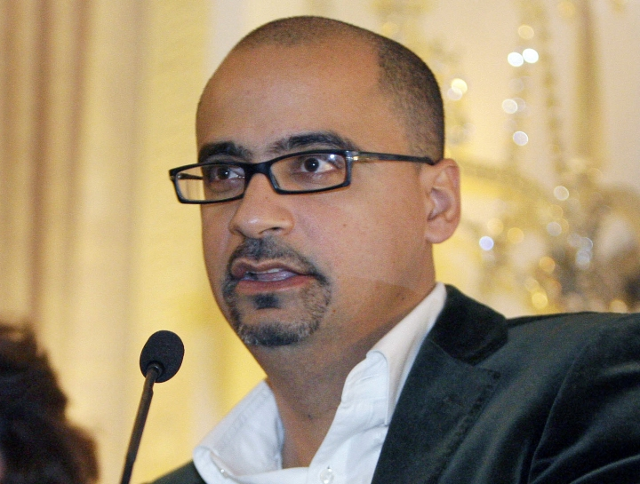 "FILE - This Oct. 17, 2008, file photo shows novelist Junot Diaz during a book presentation in New York. Diaz is facing allegations of sexual misconduct from a fellow author. Zinzi Clemmons, author of ""What We Lose,"" tweeted Friday, May 4, 2018, that the Pulitzer Prize winner forcibly kissed her while she was a graduate student. (AP Photo/Julie Jacobson, file)"