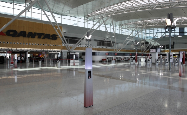 FILE - In this June 21, 2011, file photo, an almost deserted domestic terminal is seen at Sydney Airport, Australia. Australia's government said Tuesday, May 15, 2018, that it will upgrade airport security around the country and increase police powers in response to an alleged attempt to smuggle an improvised explosive device aboard a flight out of Sydney last year. (AP Photo/Rob Griffith, File)