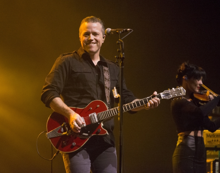 "FILE - In this Feb. 6, 2018 file photo, singer-songwriter Jason Isbell performs in concert as Jason Isbell & the 400 Unit in Baltimore. Isbell leads the nominees for the Americana Music Association's Honors and Awards with nominations in four categories thanks to his critically acclaimed album ""The Nashville Sound,"" which earned him two Grammy Awards earlier this year. (Photo by Owen Sweeney/Invision/AP, File)"