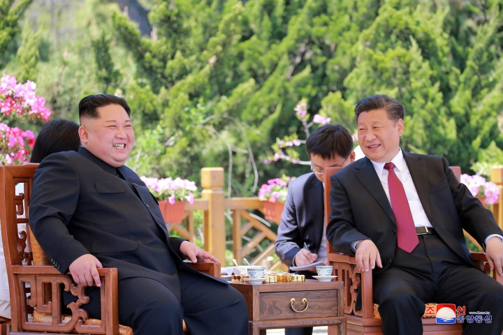 "FILE - In this May 8, 2018, file photo provided by the North Korean government, North Korean leader Kim Jong Un, left, meets Chinese President Xi Jinping in Dalian, China. After a few months of rapprochement, North Korea abruptly called off scheduled high-level talks with South Korea on Wednesday, May 16, 2018, and warned the U.S. that a planned summit with President Donald Trump could be at risk. Independent journalists were not given access to cover the event depicted in this image distributed by the North Korean government. The content of this image is as provided and cannot be independently verified. Korean language watermark on image as provided by source reads: ""KCNA"" which is the abbreviation for Korean Central News Agency. (Korean Central News Agency/Korea News Service via AP, File)"