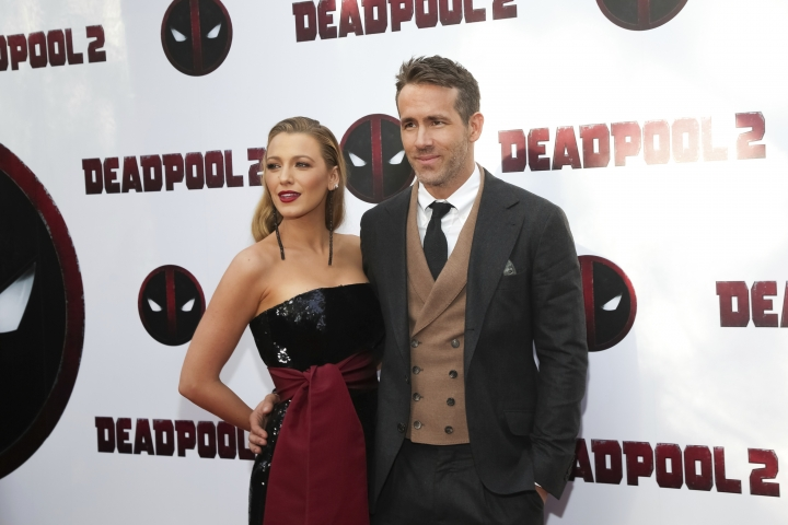 """Actors Blake Lively, left, and Ryan Reynolds attend a special screening of """"Deadpool 2"""" at AMC Loews Lincoln Square on Monday, May 14, 2018, in New York. (Photo by Brent N. Clarke/Invision/AP)"""