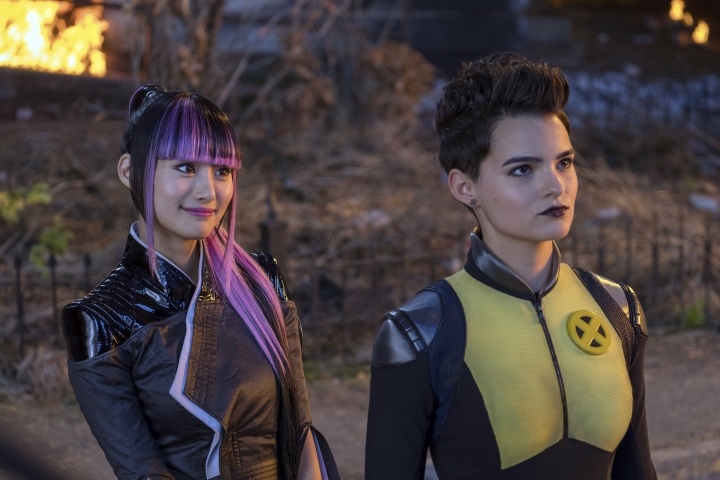 "This image released by Twentieth Century Fox shows Shioli Kutsuna, left, and Brianna Hildebrand in a scene from ""Deadpool 2."" (Joe Lederer/Twentieth Century Fox via AP)"