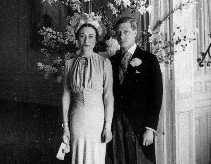 FILE - In this June 3, 1937 file photo, the Duke and Duchess of Windsor pose after their wedding at the Chateau de Cande near Tours, in France. Divorce has bedeviled the royal family, creating problems not only when senior figures like Prince Charles and Princes Diana ended their marriage in most bitter fashion but also when royals fell in love with people who had been divorced. King Edward VIII provoked one of the greatest crises to face the modern British monarchy when he proposed to Wallis Simpson shortly after he ascended to the throne in 1936. (AP Photo, File)