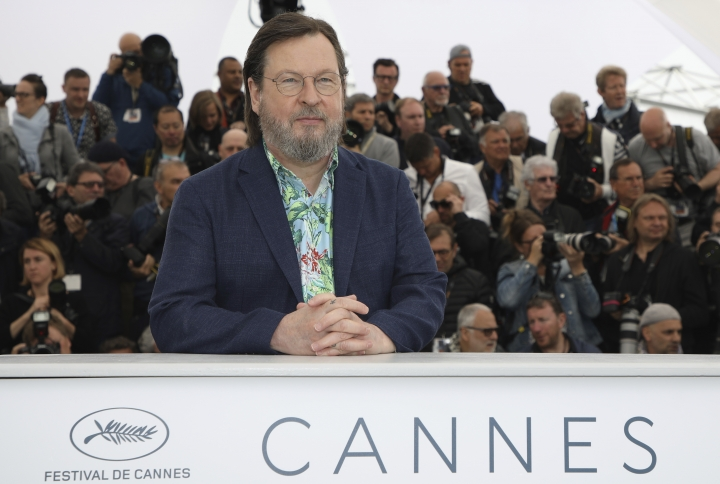 Director Lars von Trier poses for photographers during a photo call for the film 'The House That Jack Built' at the 71st international film festival, Cannes, southern France, Monday, May 14, 2018. (Photo by Vianney Le Caer/Invision/AP)