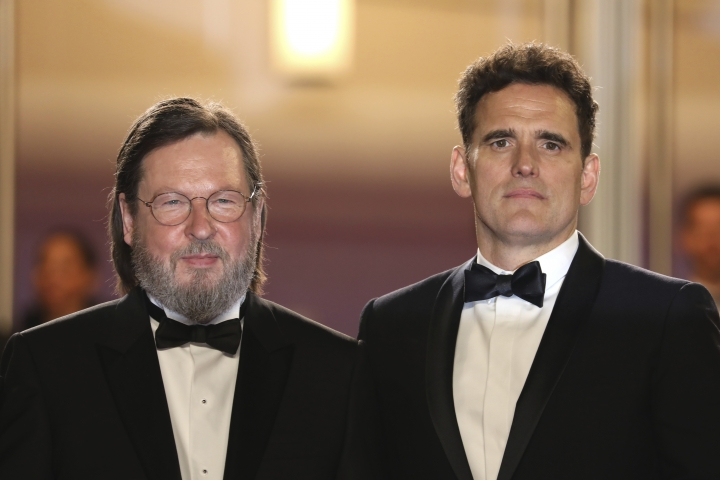 Director Lars von Trier, left, and actor Matt Dillon pose for photographers upon arrival at the premiere of the film 'The House That Jack Built' at the 71st international film festival, Cannes, southern France, Monday, May 14, 2018. (Photo by Vianney Le Caer/Invision/AP)