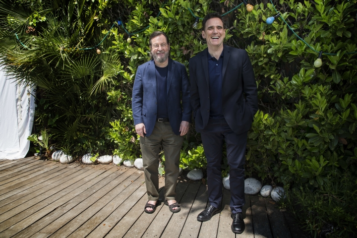 Director Lars von Trier, left, and actor Matt Dillon pose for portrait photographs for the film 'The House That Jack Built', at the 71st international film festival, Cannes, southern France, Wednesday, May 16, 2018. (Photo by Joel C Ryan/Invision/AP)