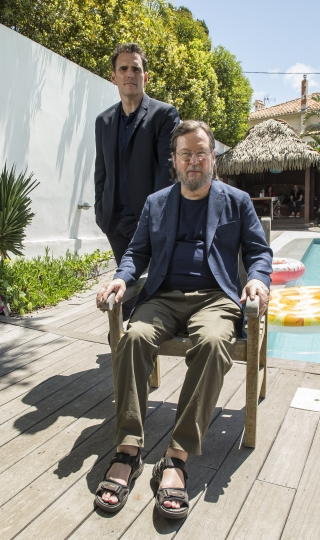 Actor Matt Dillon, left, and director Lars von Trier pose for portrait photographs for the film 'The House That Jack Built', at the 71st international film festival, Cannes, southern France, Wednesday, May 16, 2018. (Photo by Joel C Ryan/Invision/AP)