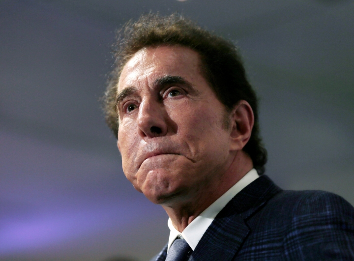 FILE - This March 15, 2016, file photo, shows casino mogul Steve Wynn at a news conference in Medford, Mass. The chairwoman of the internal committee of Wynn Resorts looking into the sexual misconduct allegations leveled against the casino operator's founder said Wednesday, May 16, 2018, more than 100 people have been interviewed in the investigation. (AP Photo/Charles Krupa, File)