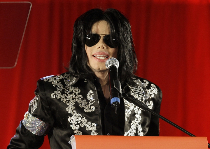 "FILE - In this March 5, 2009 file photo, Michael Jackson announces upcoming concerts at the London O2 Arena in London. The estate of Michael Jackson is objecting to the airing Thursday night of an ABC TV special on the end life of the late King of Pop. The estate said in a statement Wednesday, May 23, 2018, that ""The Last Days of Michael Jackson"" is not approved by Jackson's heirs, and will most likely violate their intellectual property rights. (AP Photo/Joel Ryan, File)"