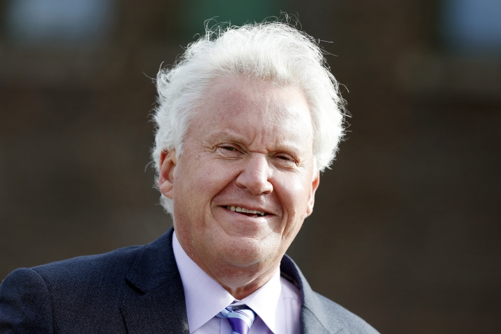 FILE- In this May 8, 2017, file photo, General Electric CEO Jeff Immelt attends a ground-breaking ceremony for GE's new headquarters in Boston. Jonathan Bush, the co-founder and CEO of athenahealth is stepping down and the medical software company is exploring a potential sale. Athenahealth Inc. said Wednesday, June 6, 2018, that Chairman Jeff Immelt, long-time chairman and CEO of General Electric Co., will become executive chairman. (AP Photo/Michael Dwyer, File)
